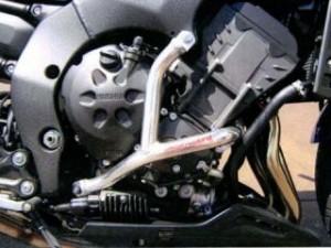 ゴールドメタル フェザー8 FZ8 エンジンガード スラッシュガード バフ仕上げ