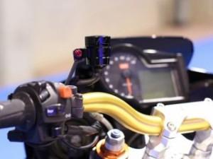 エボテック 汎用 ラジエター関連パーツ フルードリザーバータンク 15cc ストレート レッド ゴールド ブルー