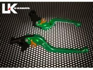 U-KANAYA 可倒式Rタイプアルミビレットレバーセット レバー:グリーン ツマミ:グリーン
