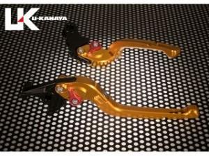 U-KANAYA 可倒式Rタイプアルミビレットレバーセット レバー:ゴールド ツマミ:ゴールド