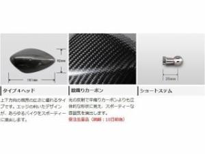 マジカルレーシング 汎用 ミラー関連パーツ NK-1ミラー・タイプ4ヘッド ショートステム 綾織りカーボン製 シルバー 正ネジ…
