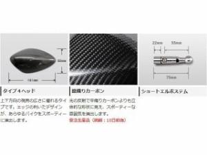 マジカルレーシング 汎用 ミラー関連パーツ NK-1ミラー・タイプ4ヘッド ショートエルボステム 綾織りカーボン製 シルバー …