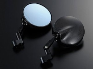 マジカルレーシング 汎用 ミラー関連パーツ NK-1ミラー・タイプ6ヘッド ロングエルボステム 綾織りカーボン製 ブラック 正…