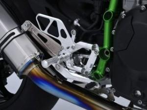 オーバーレーシング ニンジャH2 バックステップ関連パーツ バックステップ 4ポジション シルバー