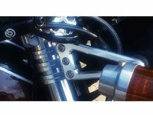 ポッシュフェイス 汎用 電装ステー・カバー類 マシンドホリゾンヘッドライトステー 39φ 2クランプ ブラック