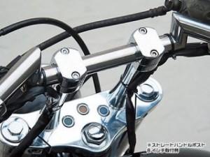 イージーライダース ハーレー汎用 ハンドルポスト関連パーツ ストレートポスト 2インチ スタッドボルト無(左右セット)