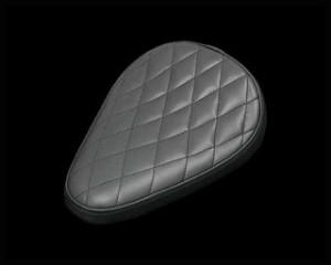 ネオファクトリー ハーレー汎用 シート関連パーツ ダイアモンドソロシート ブラック ウォール有り