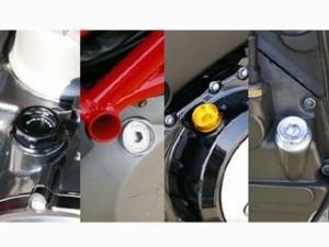 ベビーフェイス ドゥカティ汎用 エンジンオイルパーツ オイルフィラーキャップ ラウンド ブラック