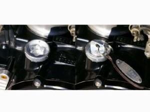 ベビーフェイス VMAX XJR1200 XJR400 エンジンオイルパーツ オイルフィラーキャップ ラウンド ゴールド