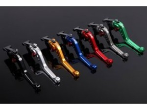SSK GSX-R1000 レバー ショートアジャストレバー クラッチ&ブレーキセット 2007-2008年 レッド ゴールド