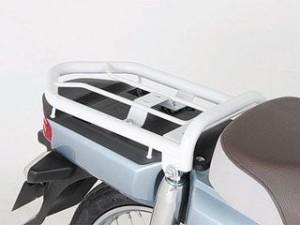 キタコ スーパーカブ110 スーパーカブ50 キャリア・サポート ファッションリアキャリアー バックレストパッド無 ホワイト