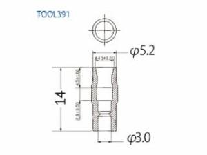 ProTools プロツールス メンテナンスグッズ 絶縁チューブ ギボシ端子用 TOOL391