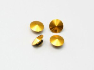 ハリケーン 汎用 ドレスアップ・カバー アルミビレット ソケットボルトキャップ M8 4ヶ入 ゴールド