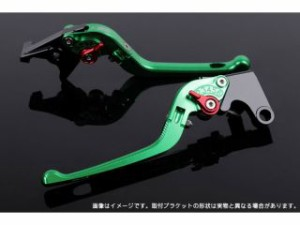 SSK CBX400F レバー 可倒式アジャストレバー 3Dタイプ クラッチ&ブレーキセット グリーン ゴールド