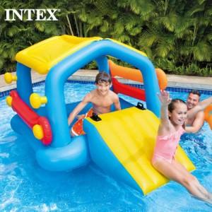 【送料無料】 INTEX インテックス アイランドウィズスライド キッズ 大人用58294 2021 SUMMER すべり台付き ビーチ スライダー付き フロ