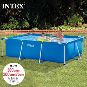 【送料無料】 INTEX インテックス ビニールプール 大型 家庭用プール 長方形フレームプール キッズ 大人用 28272 2021 SUMMER 組み立てフ