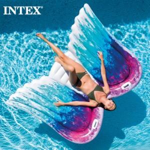 【送料無料】 INTEX インテックス 浮き輪 エンジェルウィングマット キッズ 大人用58786 2021 SUMMER インスタ映え 羽根 ビーチ フロート