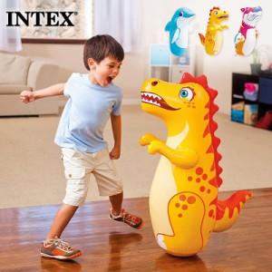 【送料無料】 INTEX インテックス ボクシングバッグ 3-Dポップバック キッズ 44669 2021 SUMMER 室内遊び ビーチ 家遊び  アニマル 海水