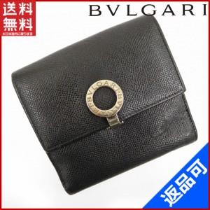 95144fc8889e ブルガリ 財布 BVLGARI 二つ折り財布 Wホック財布 ブラック 人気 即納 【中古】 X10918