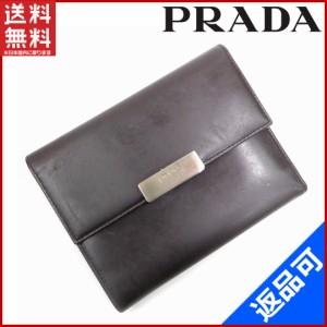 3dad38a2d1aa プラダ 財布 PRADA 二つ折り財布 三つ折り財布 ブラウン 即納 【中古】 X11095