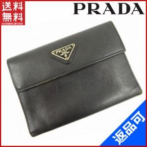 c8276c4824a7 プラダ 財布 PRADA 二つ折り財布 三つ折り財布 サフィアーノ ブラック 人気 即納 【中古】