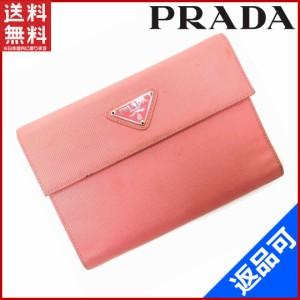 e38ee83f1560 プラダ 財布 PRADA 二つ折り財布 三つ折り財布 ピンク 即納 【中古】 X12829