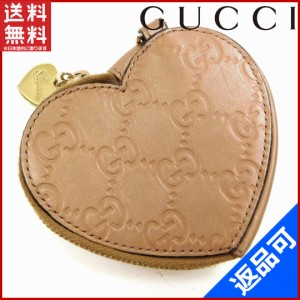352562a673c3 グッチ 財布 GUCCI コインケース ハート型 メタリックピンク 即納 【中古】 X14343