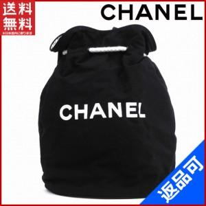 94cb5a57d32a シャネル バッグ CHANEL ショルダーバッグ 巾着ショルダー ノベルティ プールバッグ ブラック 人気 即納 【中古】