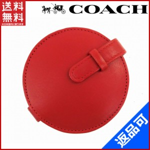 5ff51863054c コーチ ミラー COACH ミラー 鏡 レッド 即納 【中古】 X15367