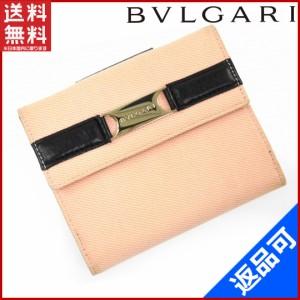 d7b4d8c4be63 ブルガリ 財布 BVLGARI 二つ折り財布 ピンク×ブラック 即納 【中古】 X15546