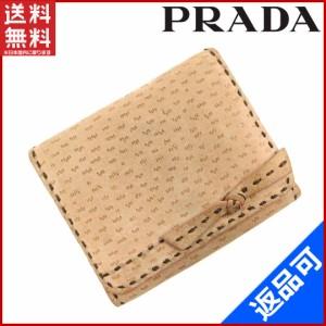 c1aacf6c897d プラダ 財布 PRADA 二つ折り財布 三つ折り財布 ピンク系 即納 【中古】 X16688