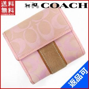 best website 53a91 d09dd コーチ 財布 レディース 二つ折り ピンクの通販|au Wowma!