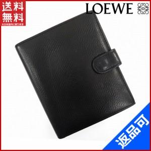559a5bf6a6a4 ロエベ 財布 LOEWE 二つ折り財布 ブラック (激安・即納) 【中古】 X5062