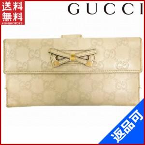 b6d7735daedf グッチ 財布 GUCCI 長財布 Wホック二つ折り プリンシーリボン グレー×ゴールド (