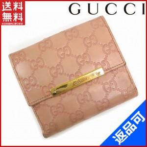 586264deae4b グッチ 財布 GUCCI 二つ折り財布 Wホック財布 ロゴプレート付き ピンク×ゴールド 人気