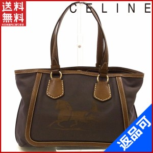 a16ea98809f2 セリーヌ バッグ CELINE トートバッグ ブラウン 美品 即納 【中古】 X9528