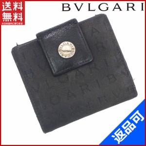 0349dbed030c ブルガリ 財布 BVLGARI 二つ折り財布 ブラック 激安 即納 【中古】 X9942