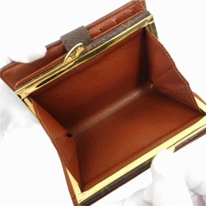 buy online a57c6 5df7c ルイヴィトン 財布 LOUIS VUITTON 二つ折り財布 がま口 男女兼用 ポルトフォイユ・ヴィエノワ ブラウン 人気 即納 【中古】 X17121