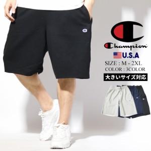 チャンピオン ハーフパンツ メンズ 大きいサイズ スエット ロゴ Champion ストリート系 スポーツ ファッション 春新作 父の日