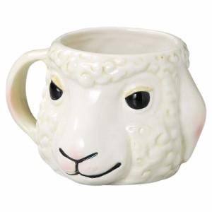 キ食調 マグカップ・コーヒーカップ・湯のみWキ食調マグカップ 大きい 陶器 かわいい アニマルマグカップ ヒツジ SP-1624