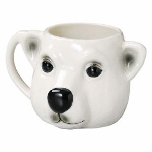 キ食調 マグカップ・コーヒーカップ・湯のみWキ食調マグカップ 大きい 陶器 かわいい アニマルマグカップ シロクマ SP-1625