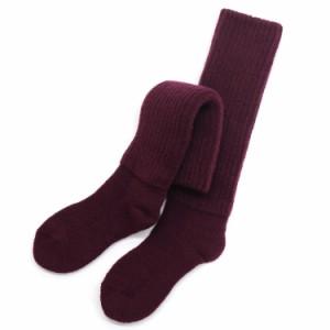 エンジ/2重靴下