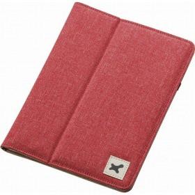 タブレット汎用ブックタイプケース/ファブリック/7.0〜8.4インチ/レッド