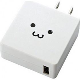 スマートフォン・タブレット用AC充電器/2A出力/USB-Aメス/ホワイトフェイス MPA-ACUCN004WF