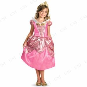 【SALE】 オーロラ姫ドレス シマーDX 女の子用 M(7-8) コスプレ 衣装 ハロウィン 仮装 子供 コスチューム パーティー ドレス 童話