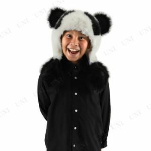 【SALE】 フードキャップ(パンダ) コスプレ 衣装 ハロウィン パーティーグッズ かぶりもの アニマル 動物 帽子 キャップ パンダ