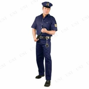 【送料無料】! ポリス 大人用 M 仮装 衣装 コスプレ ハロウィン 大人 コスチューム メンズ ポリス 警察 男性用 パーティーグッズ