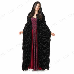 dfa2a0e05b822 DXブラックローブ コスプレ 衣装 ハロウィン 仮装 ローブ 魔女 コスチューム 魔法使い マント 大人用 女性用