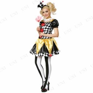 【SALE】 ルービーズ(Rubie's) 大人用クラウンハート ピエロ レディース 服 仮装 コスチューム 大人 ハロウィン 衣装 コスプレ