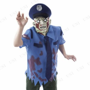 ! ポリスゾンビセット 仮装 衣装 コスプレ ハロウィン 大人 コスチューム メンズ ゾンビ ポリス 大人用 男性用 パーティーグッズ